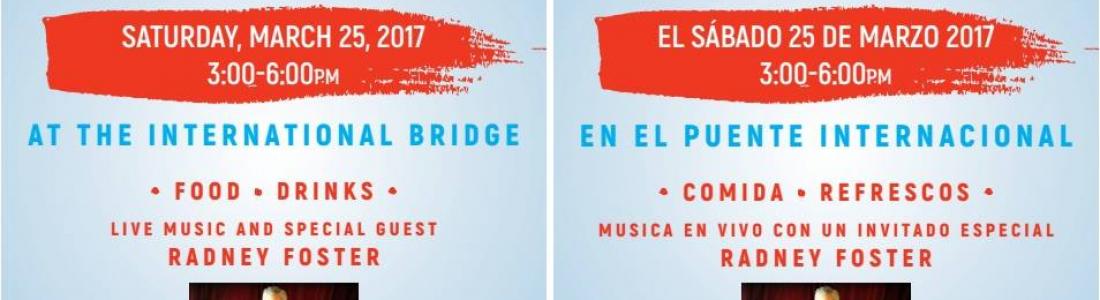 Acuña y Del Rio Tx. organizan evento en el puente internacional en rechazo a política migratoria de Donald Trump.