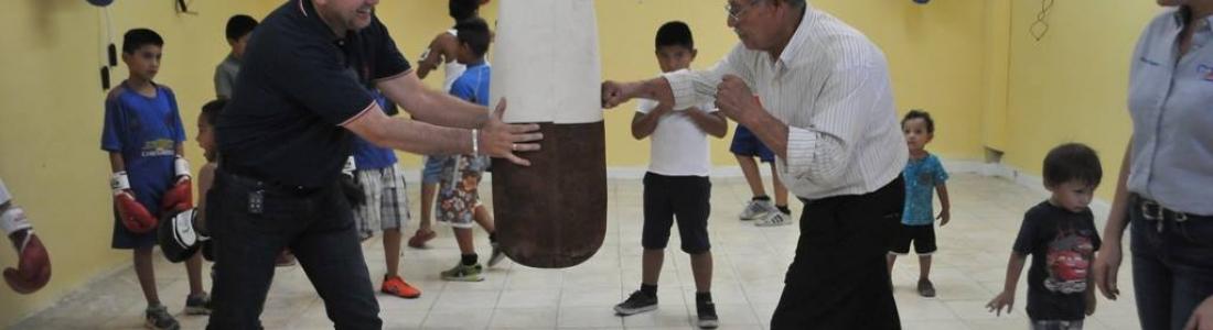"Inauguran gimnasio municipal de box ""Puños de Oro"""