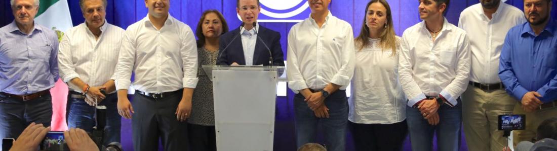 Dirigencia Nacional del PAN, Senadores y Diputados defenderán triunfo de Memo Anaya