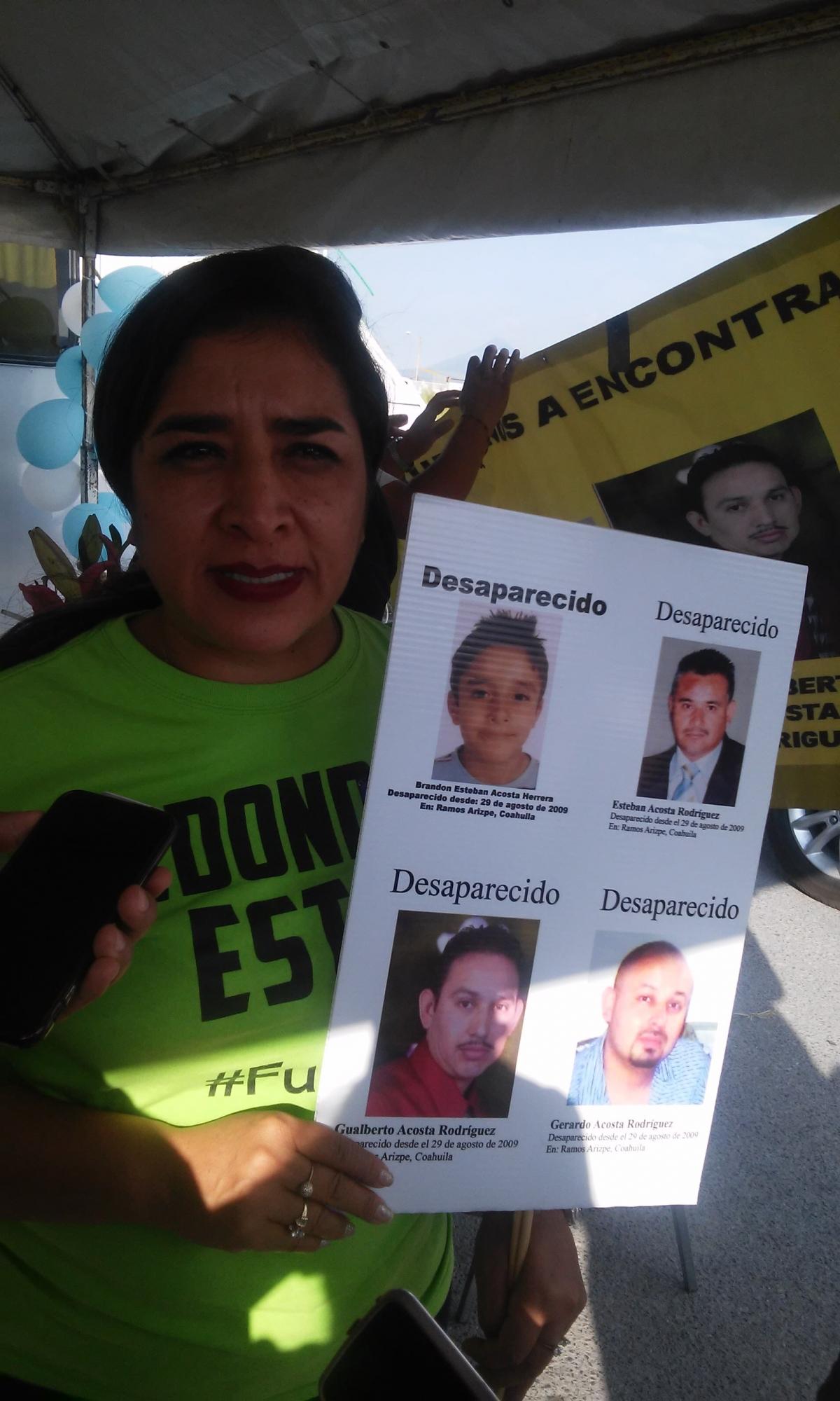 Llegan a una década desaparecidos Brandon, su padre y dos tíos