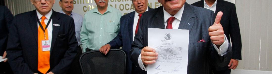 Reciben Guadiana y Galaz constancia como senadores electos