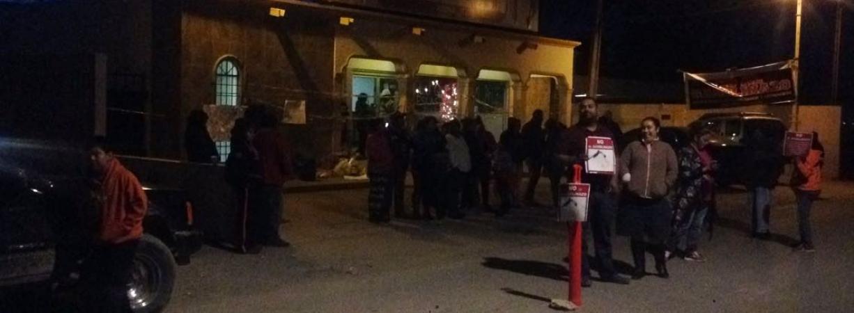 Mantienen plantón en RRE en Acuña, la oficina permanece cerrada.