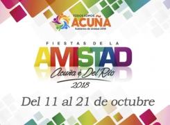 DEFINIDO EL CALENDARIO DE LAS FIESTAS DE LA AMISTAD 2018.
