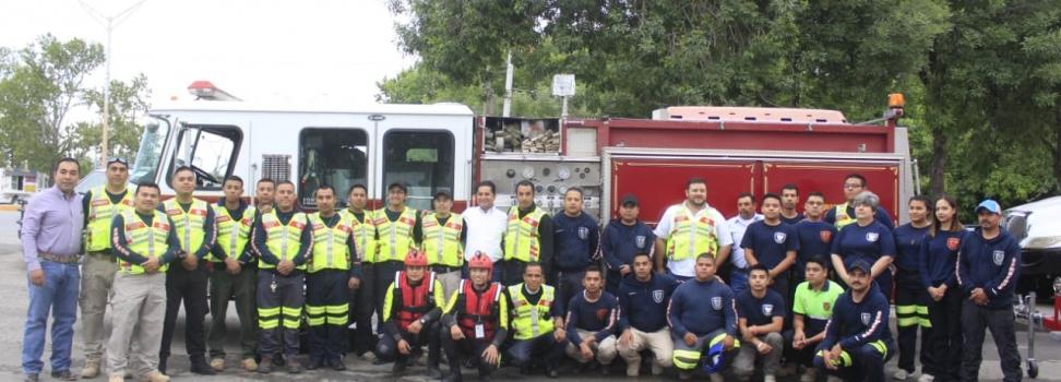 PROTECCIÓN CIVIL Y BOMBEROS RECIBEN CAMIÓN MOTOBOMBA Y LANCHA DE RESCATE ACUÁTICO.