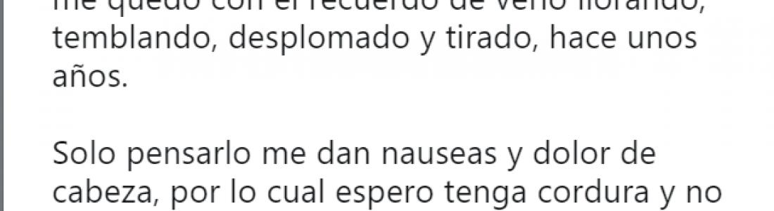 """""""Solo pensarlo me dan nauseas"""" dedica tuit Rubén H. Moreira a su tío hoy ex Gobernador de Coahuila"""