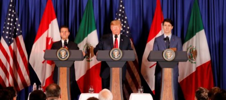 "Firman T-MEC: Para Trump, un ""increíble hito""; faltan romper barreras: Trudeau; garantiza integración: EPN"