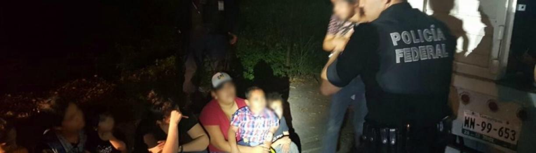 Hallan a 126 migrantes en un tráiler; van más de 300 centroamericanos detenidos en Veracruz