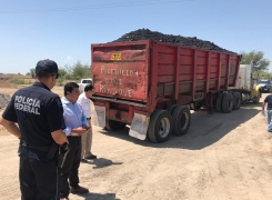 Clausura tajo ilegal donde extraían carbón