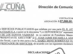 Director de comunicación social municipal cobra 87 mil pesos trimestrales por contrato de servicios publicitarios a nombre de su esposa.