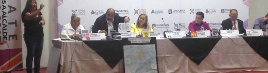 Debaten candidatos a gobernar Saltillo; PRI y PT los ausentes