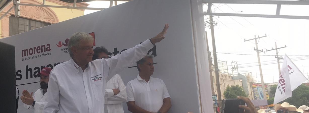 """""""Vamos a transformar al país"""" AMLO en La Laguna"""