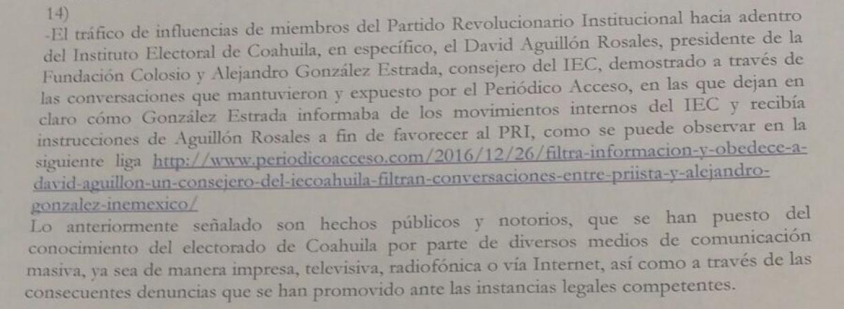 """""""Que el INE atraiga la elección a gobernador de Coahuila"""" Javier Guerrero García"""