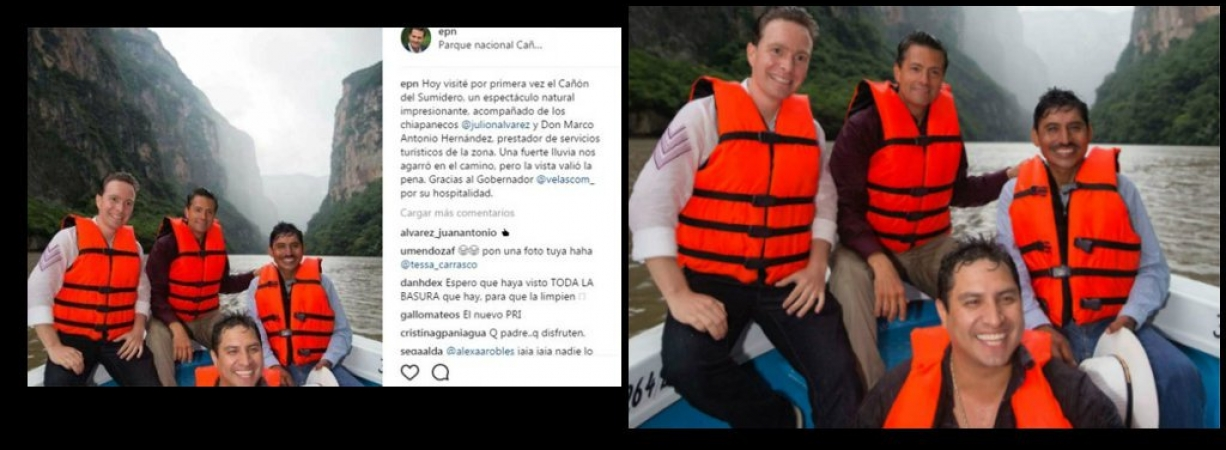 En redes reportan que Peña subió y borró de Instagram foto con Julión Álvarez