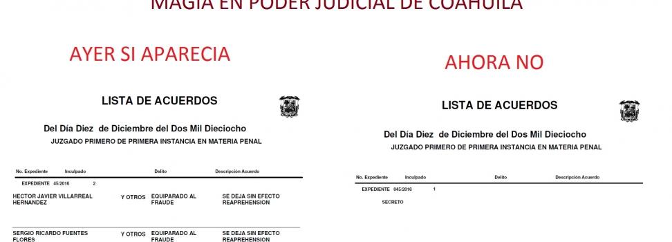 Vigente orden de reaprehensión contra Javier Villarreal; dice Tribunal Superior de Justicia
