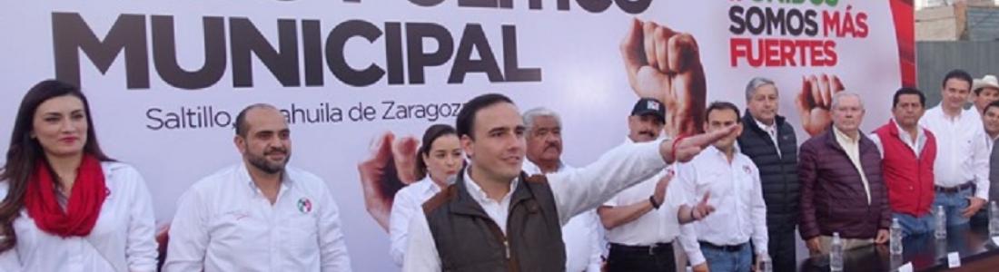 Rinde protesta Manolo Jiménez como candidato del PRI a presidente municipal de Saltillo