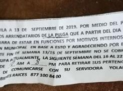 DESALOJAN DRÁSTICAMENTE A LOCATARIOS DE INMUEBLE ALEDAÑO A MERCO CENTRO.