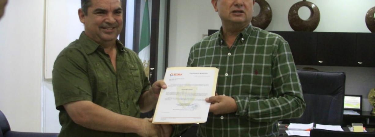 ENTREGAN NOMBRAMIENTO AL SECRETARIO TÉCNICO MUNICIPAL.