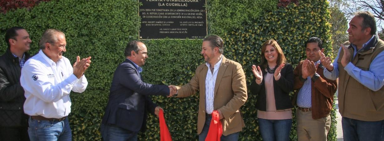 """ENTREGAN A LA COMUNIDAD PLANTA POTABILIZADORA I """"LA CUCHILLA"""", QUE DARÁ COMPETITIVIDAD Y MODERNIDAD A ACUÑA."""