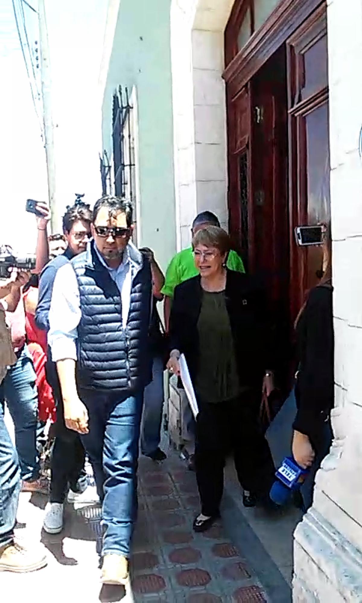 Bachelet se reune en Saltillo con familias de personas desaparecidas
