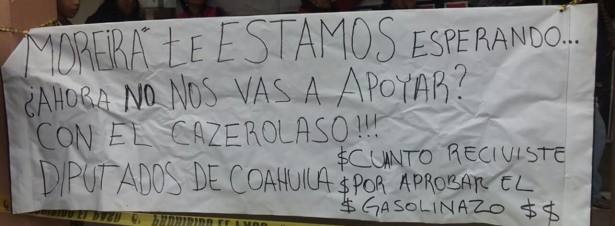 CIERRAN OFICINAS DE RECAUDACIÓN DE RENTAS EN PROTESTA A GASOLINAZO.