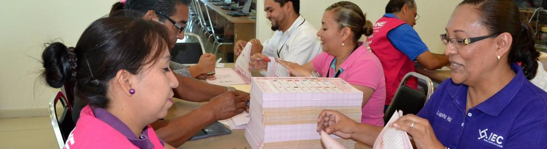Llegan boletas para elección de gobernador