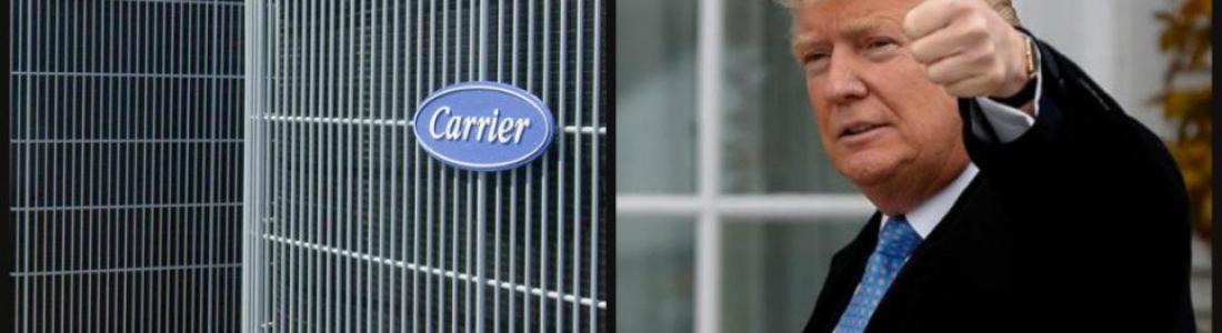 Trump lo logra: Carrier no viene a México y se queda en Indiana