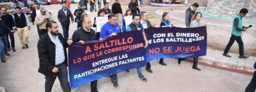 """""""A Saltillo lo que corresponde""""; reclama Isidro López con marcha"""