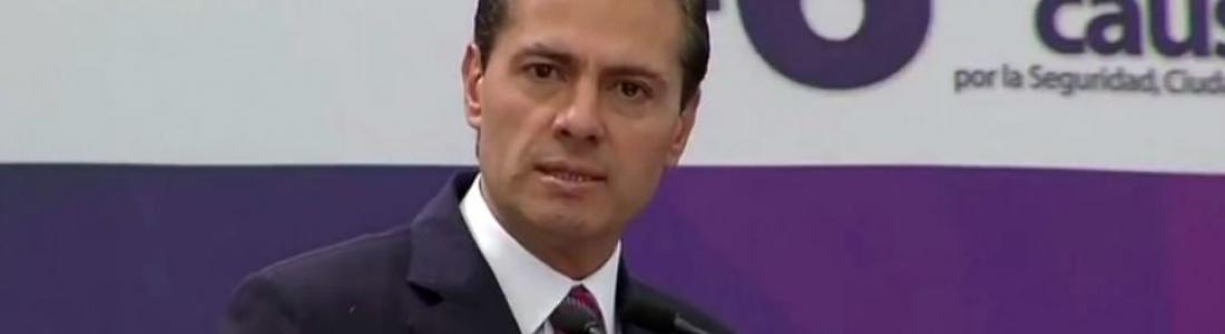 """EPN acusa """"bullying"""" a las instituciones del Estado; acepta que """"volvió"""" la violencia"""