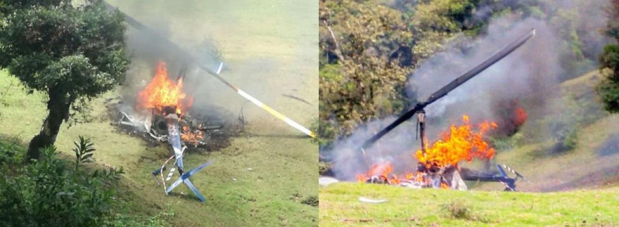 Cae helicóptero donde viajaba vocero del PVEM en Veracruz