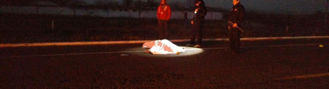 Muere motociclista arrollado en carretera acuña-Zaragoza.