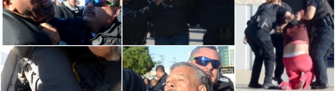 Policías golpean y detienen a ciudadanos de Mexicali, BC, que protestaban por el gasolinazo