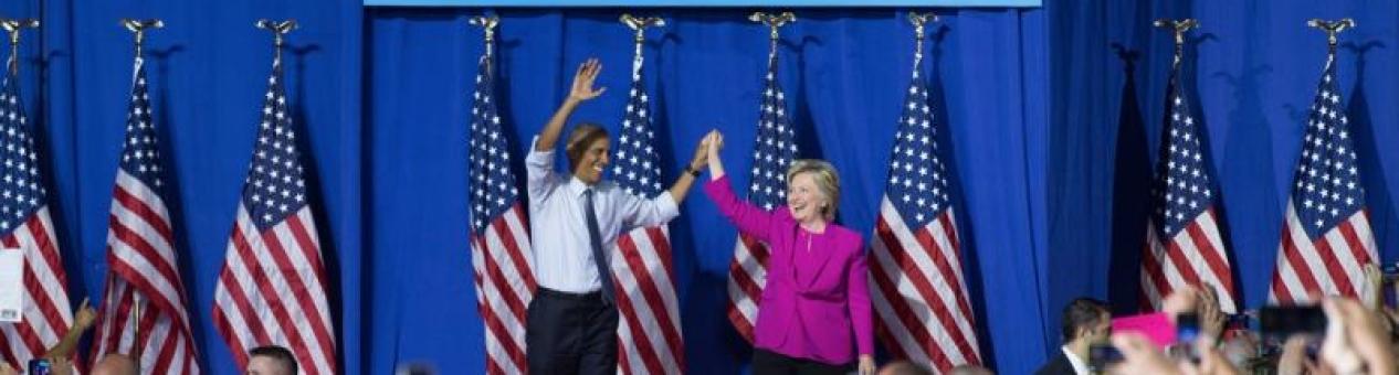 Obama escenifica su pleno apoyo a Clinton