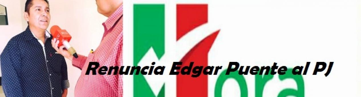 Renuncia Edgar Puente al Partido Joven