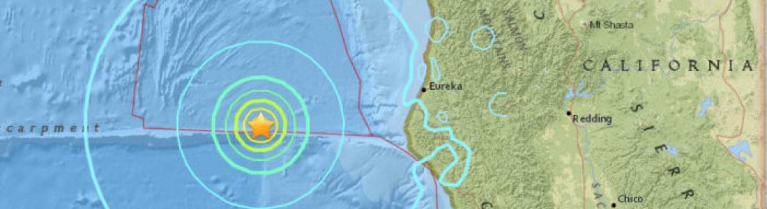 Registran sismo de 6.5 grados en la costa norte de California