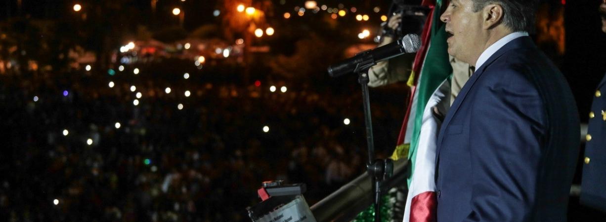 CON ALEGRÍA EL PUEBLO DE ACUÑA PARTICIPÓ DE LA NOCHE DEL GRITO DE INDEPENDENCIA.