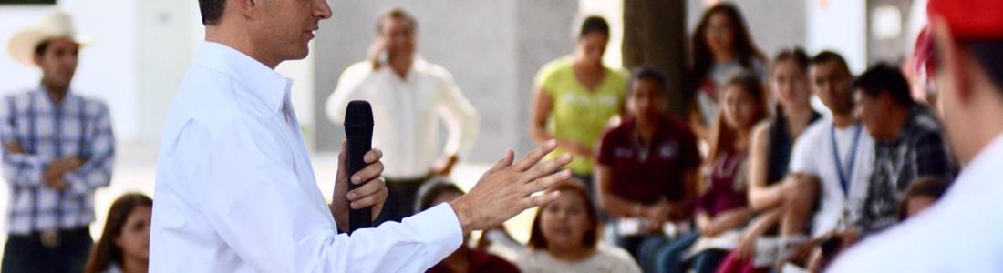 LOS JÓVENES SON PARTE DEL CAMBIO, MI COMPROMISO ES IMPULSAR SUS PROYECTOS: JORGE RAMÓN