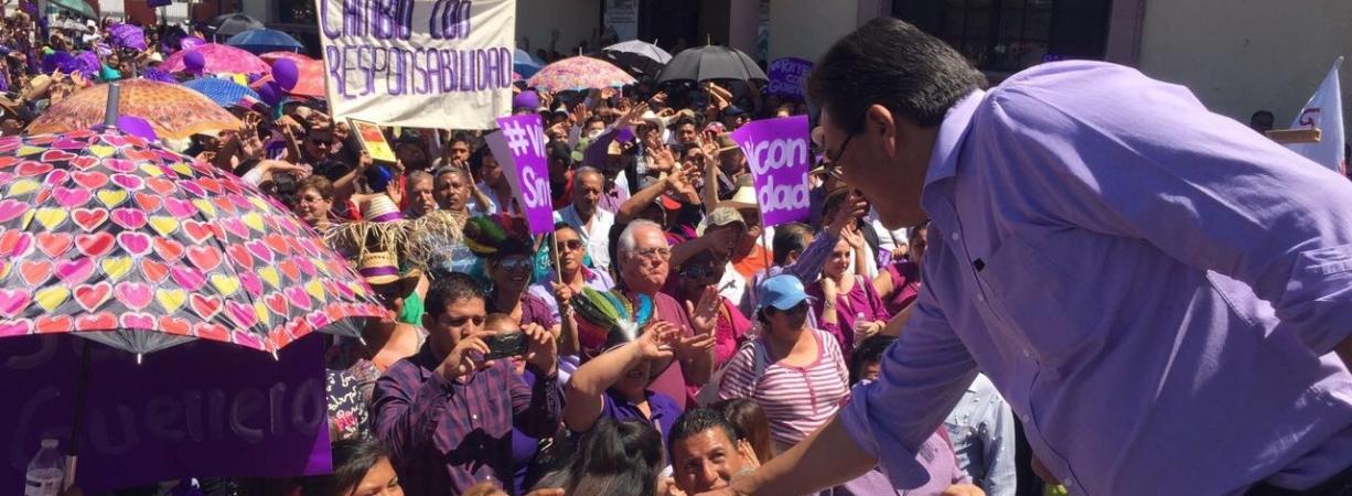 HOY INICIAMOS NUESTRA CAMPAÑA PARA LLEVAR EL PODER DEL CIUDADANO AL PALACIO DE GOBIERNO : JAVIER GUERRERO
