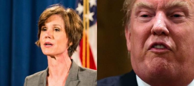 Trump despide a la secretaria de Justicia interina por rechazar decreto inmigratorio